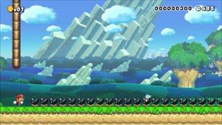 【Super Mario Maker】クリア率0.01%(15/360000) 強制スクロール鬼畜コースに挑戦【マリオメーカー】