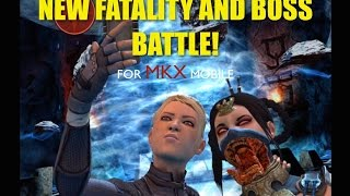 getlinkyoutube.com-NEW FATALITY & BOSS BATTLE! For MKX Mobile. Last two fights of last tower.