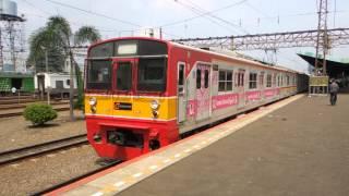 getlinkyoutube.com-ジャカルタの日本製中古電車 Jepang kereta api di Jakarta
