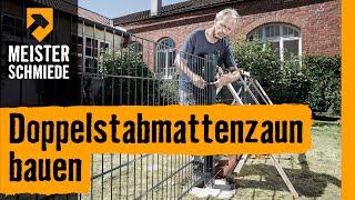 getlinkyoutube.com-Doppelstabmattenzaun bauen | HORNBACH Meisterschmiede
