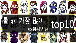 getlinkyoutube.com-롤에서 가장 많이 픽한 챔피언 순위 top10
