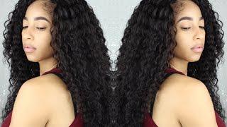 """getlinkyoutube.com-Outre  Lace Front """"Peruvian"""" Batik Bundle Hair"""