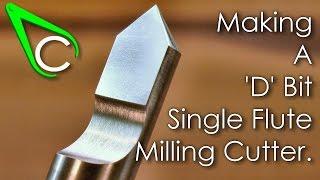 getlinkyoutube.com-Spare Parts #8 - Making A D Bit Single Flute Milling Cutter