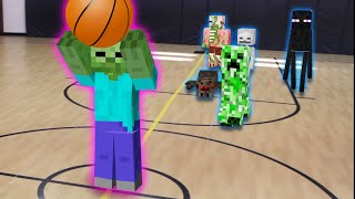getlinkyoutube.com-Monster School in Real Life Episode 5: Basketball - Minecraft Animation