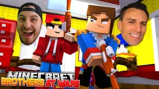 FIGHTING WITH MY BROTHER IN REAL LIFE!! Minecraft Hypixel Bed wars w/ LITTLE DONNY & LITTLE ROPO!!
