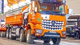 getlinkyoutube.com-The MOST EXPENSIVE RC Truck! Loading Crane Hook Lifter! MB Arocs! Palfinger! ScaleART!