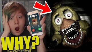 getlinkyoutube.com-CALLING FNAF FREDDY FAZBEAR'S PIZZA WORKED!! CHICA GIVES ME PIZZA! WHAT ?!