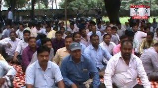 Roorkee: सेल्फ हेल्प ग्रुप के सेकडों कर्मचारी ऊर्जा निगम के काम ठेके पर देने के विरोध मे