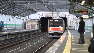 getlinkyoutube.com-【4K】JR武蔵野線 新小平駅にて(205系0番台・5000番台、209系500番台・EF210・EF65)