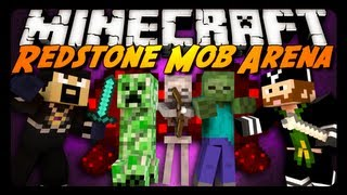 getlinkyoutube.com-Minecraft Mini-Game: REDSTONE MOB ARENA! - Pt. 2 w/ CavemanFilms!