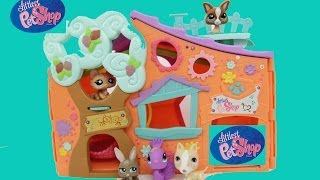 getlinkyoutube.com-Littlest Pet Shop LPS Clubhouse Club Tree House Hasbro Toy Review