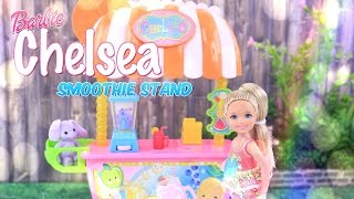 Unbox Daily:  Barbie Chelsea Smoothie Stand - 5 Piece Playset - New Toy Review - 4K