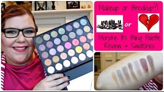 getlinkyoutube.com-Makeup or Breakup?! Morphe Its Bling Palette Review+Swatches