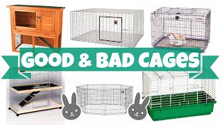 Good vs Bad Rabbit Cages