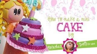 getlinkyoutube.com-How to make a mini cake for your fofucha doll.
