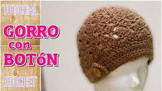 getlinkyoutube.com-Gorro con botón a crochet paso a paso