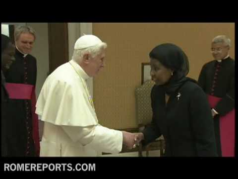 Pope receives Ashe Rose Migiro  highest ranking UN woman