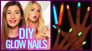 getlinkyoutube.com-DIY GLOW STICK NAIL POLISH - Makeup Mythbusters with Maybaby and BindleBeautyx