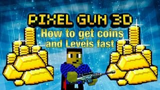 getlinkyoutube.com-Pixel Gun 3D - How to get coins fast - How to Level up fast [Tutorial]