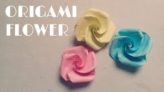 getlinkyoutube.com-Origami Easy - Origami Flower Tutorial