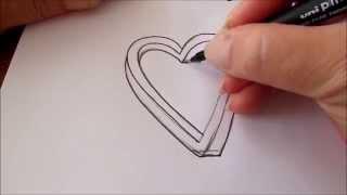 getlinkyoutube.com-How to draw an impossible heart