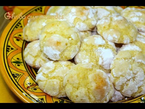 Ghriba aux amandes-patisserie marocaine غريبة البهلة باللوز/Moroccan almond cookies