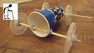 getlinkyoutube.com-Fast Food Chain Components Rubber Band Powered Car
