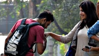 Kissing Cute Girls Hand Prank | AVRprankTV (Pranks in India) width=