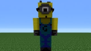 getlinkyoutube.com-Minecraft 360: How To Make A Despicable Me Minion Statue