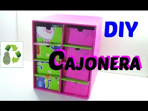 43. DIY TOY ORGANIZER (CAJONERA-GAVETERA) RECICLAJE DE CARTÓN