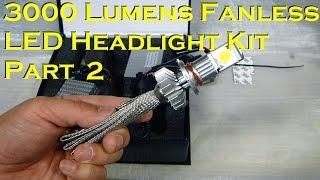 getlinkyoutube.com-3000 Lumens 25 Watt LED Headlight Kit - Installation - Part 2