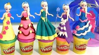 Quarto Real Elsa Bonecas Magiclip Princesas Disney   Play Doh Elsa MagiClip Flip 'N Switch Castle