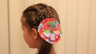 getlinkyoutube.com-お花のヘアクリップの作り方 How to make hair clips with fabric