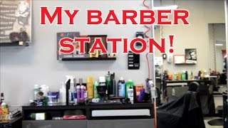 getlinkyoutube.com-My Barbershop Station, Barber Tools, and Products!