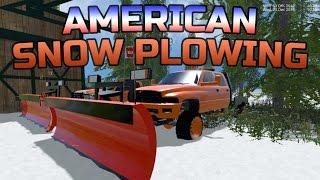 getlinkyoutube.com-Farming Simulator 2015- American Snow Plowing!