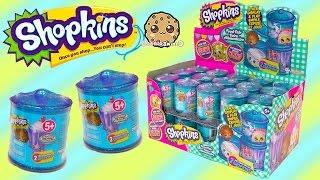 getlinkyoutube.com-Shopkins Food Fair Candy Jar Blind Bag Box Unboxing Season 1 , 2 , 3 Exclusive Colors Video