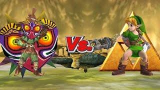 SSBB Wii U Modded Battles: Young Link Vs. Skull Kid ( Majora's Mask 3D Tribute Battle)