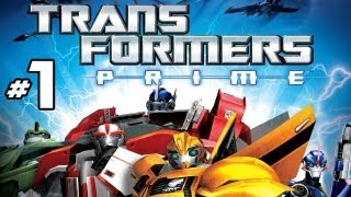 Transformers Prime: The Game - Part 1 Gameplay Commentary - The Battle Begins! (Optimus Prime) Wii U HD