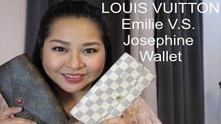 getlinkyoutube.com-Louis Vuitton Emilie and Josephine Wallet Comparison