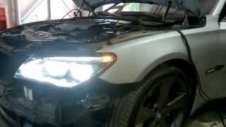 getlinkyoutube.com-BMW 750 2009 LED Headlight + LCI tail lights RETROFIT !