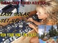 EASY SOLAR 101 FOR OFF GRID: A REAL SET UP!!!!!!!!