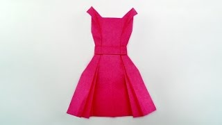 getlinkyoutube.com-Origami dress / พับชุดกระโปรง