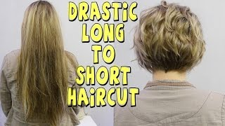 getlinkyoutube.com-DRASTIC LONG TO SHORT WOMENS HAIRCUT