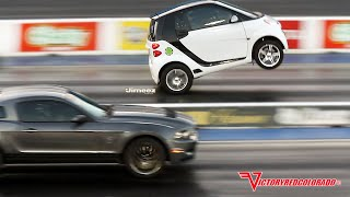 "getlinkyoutube.com-WHEELSTANDING ""BLOWN"" SMART CAR OUTRUNS MUSTANGS!!"