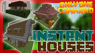getlinkyoutube.com-INSTANT HOUSES with only one command block | Minecraft [Survival Friendly]
