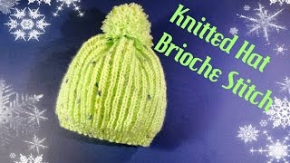 getlinkyoutube.com-Brioche Stitch Hat (Štrikana kapa)