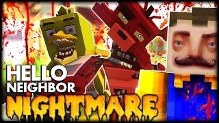 getlinkyoutube.com-Minecraft | Hello Neighbor Five Nights At Freddy's CHICA SECRET ENDING (Hello Neighbor In Minecraft)