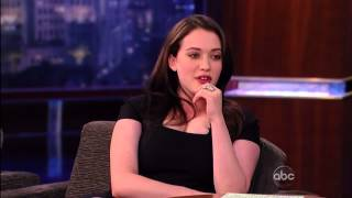 getlinkyoutube.com-Kat Dennings  Show Jimmy Kimmel 26 04 2011