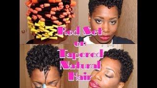 getlinkyoutube.com-Heatless Rod Set on Tapered Natural Hair 👌👍