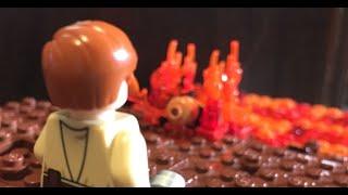 getlinkyoutube.com-Obi-Wan Defeats Anakin | LEGO Star Wars Mini-MOC (Mustafar)